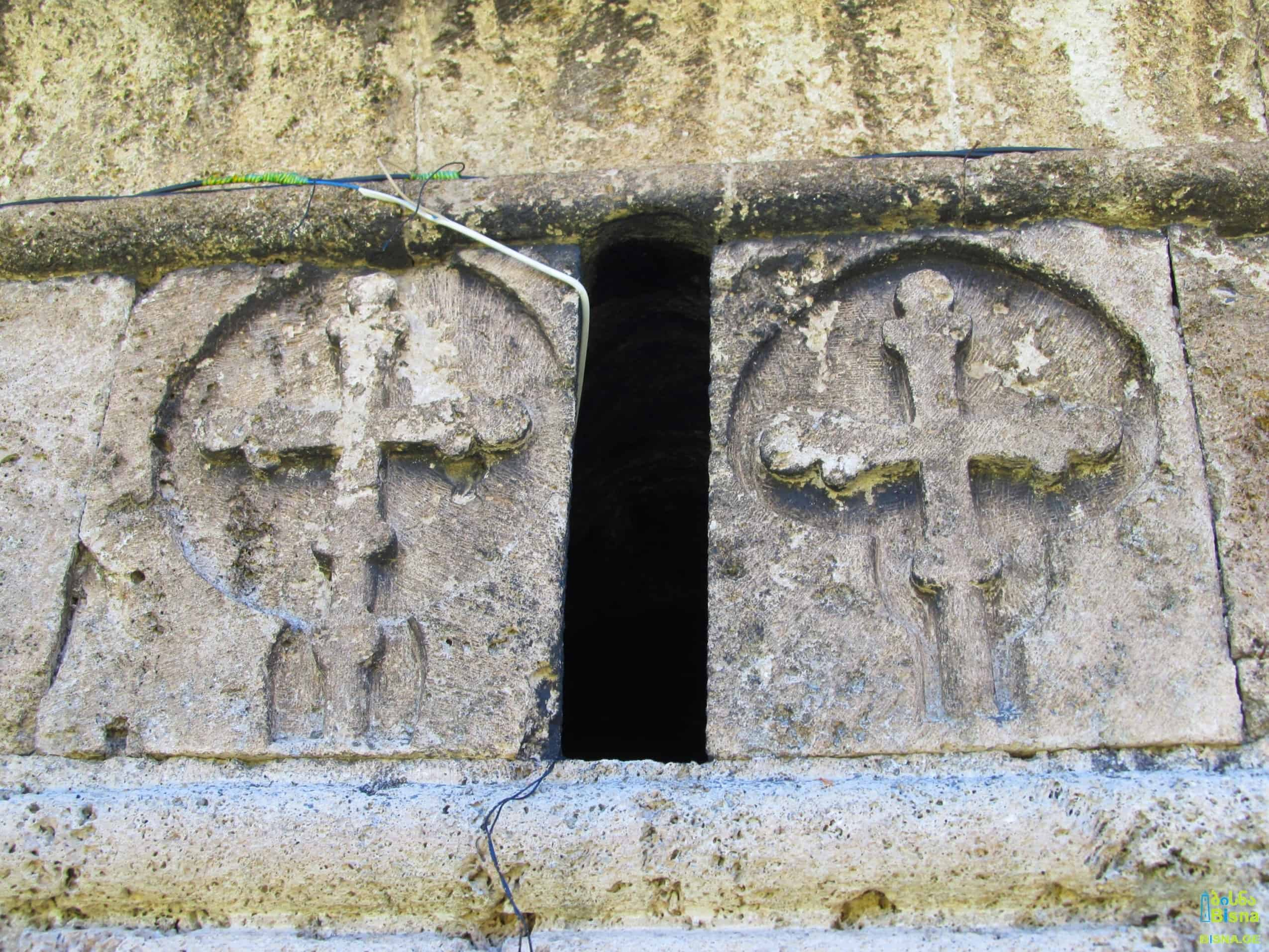 Bas-reliefs on the wall of Ienashi Church