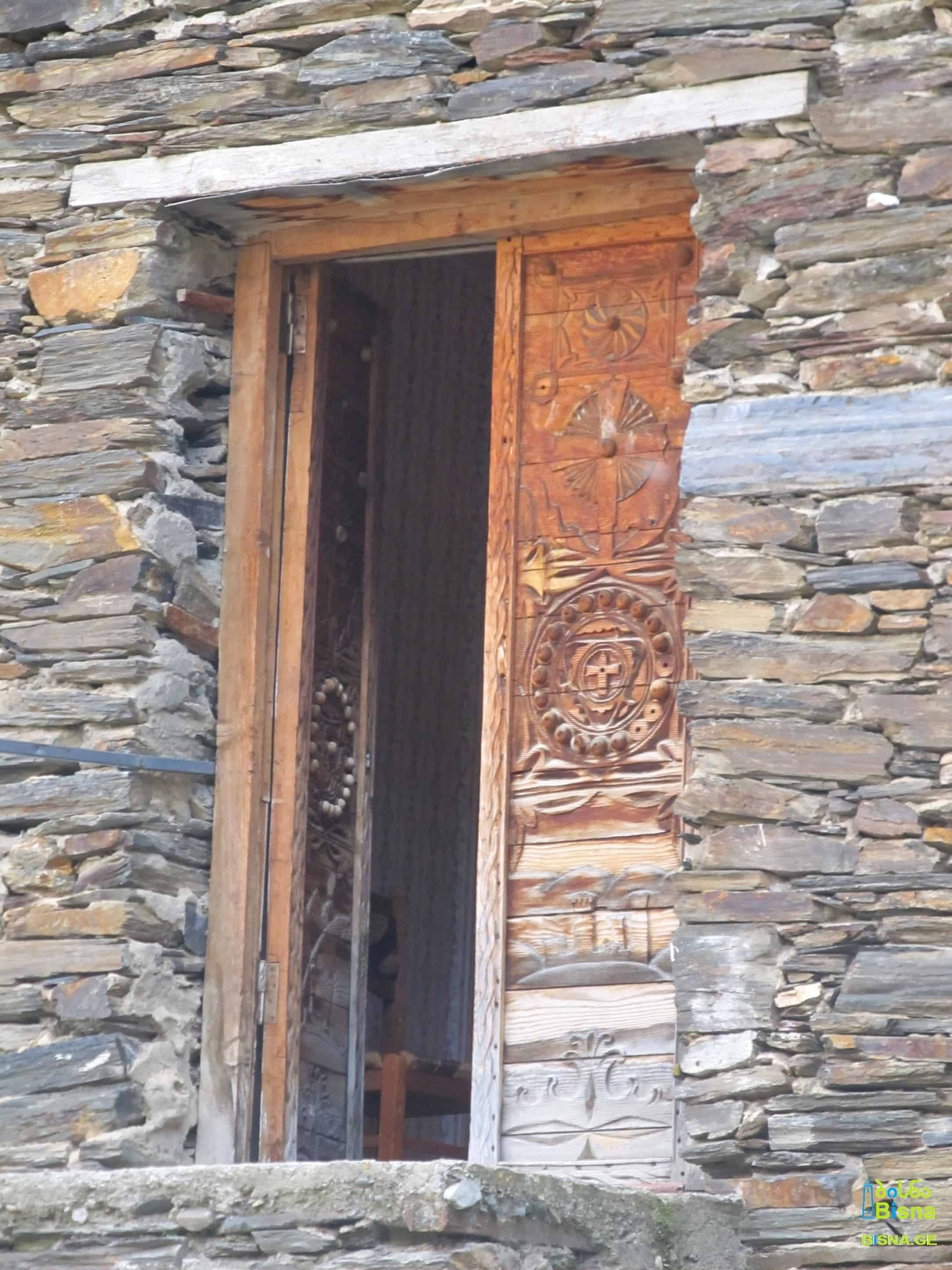 A door on an old building, Ushguli