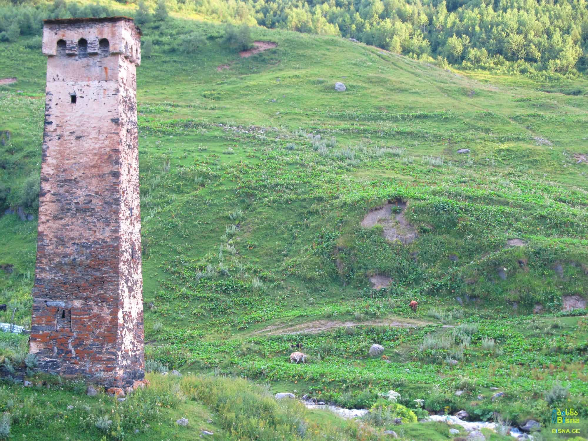 A tower in Ushguli